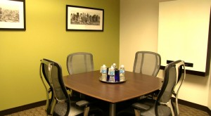 A more intimate conference room