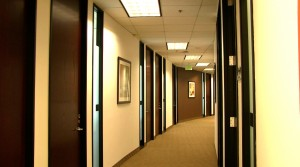 Hallway to our offices