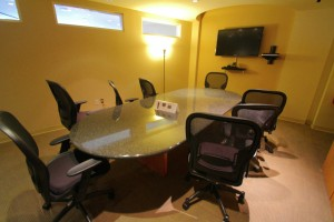 One of the larger conference rooms
